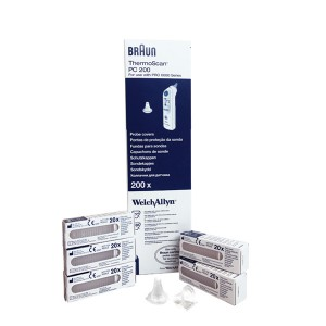 Braun ThermoScan PRO 6000 Ear Thermometer Disposable Probe Covers (200/box -4 Box/Case)